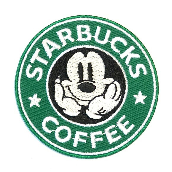 54798b4bf Accessories | Mickey Mouse Patch Iron On Starbucks Coffee Diy | Poshmark